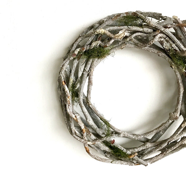 White Timber Wreath | Drift Wood Wreath | Reclaimed Wood Wreath | Lake House Wreath