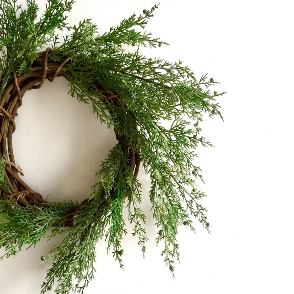 Faux Juniper Wreath | Faux Juniper Christmas Wreath | Juniper Wreath Faux | Faux Pine Wreath for Christmas