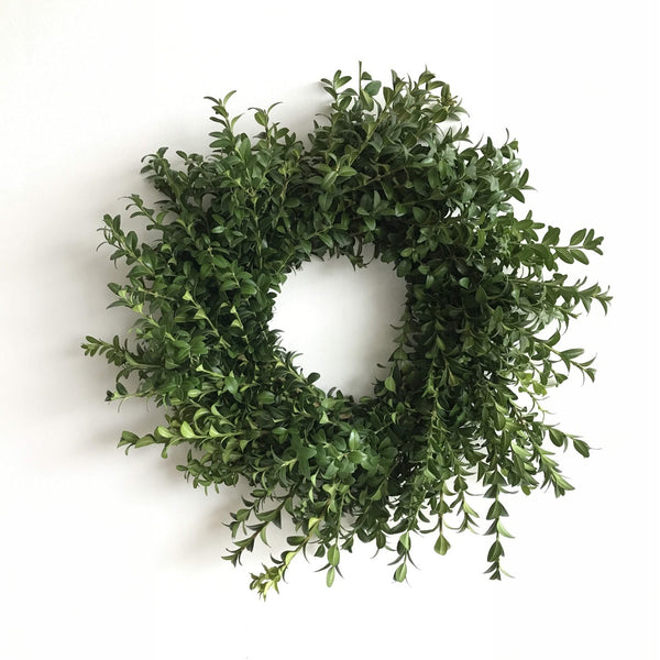 fresh boxwood wreath