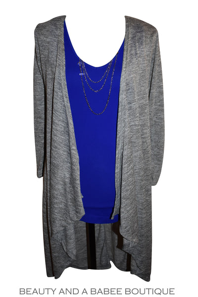Glendora Cardigan - Bright Grey