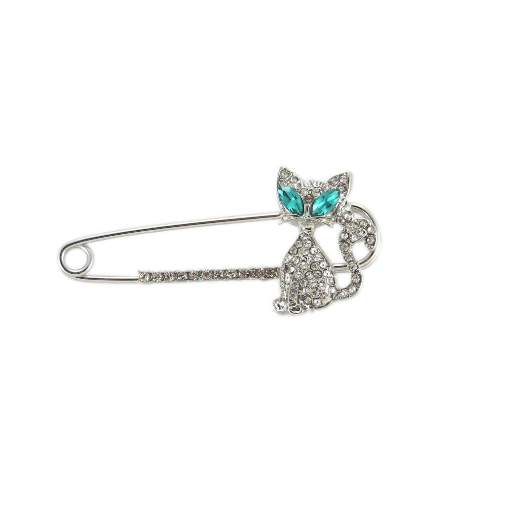 98bbea64a Saftey Pin Cat Brooch - Greaser Lifestyle Affordable Clothing & Accessories