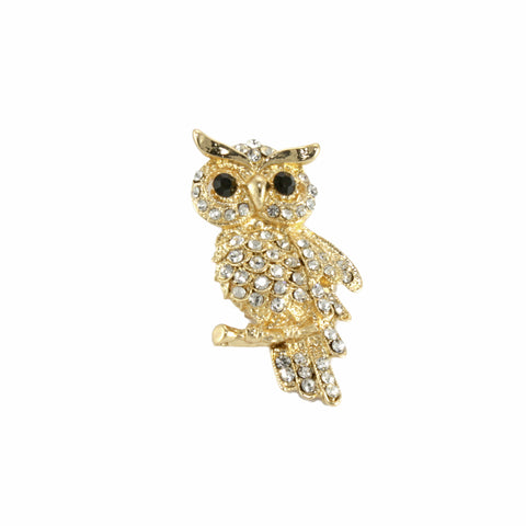 1cdddddbd Golden Owl Brooch - Greaser Lifestyle Affordable Clothing & Accessories