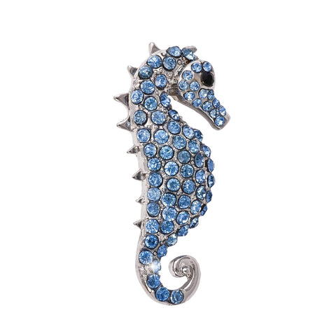 1b115a537 Blue Sea Horse Brooch - Greaser Lifestyle Affordable Clothing & Accessories