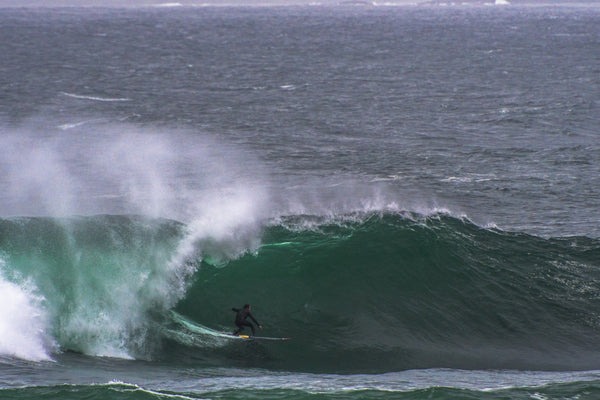 big wave surfer on mullaghmore surf, wild atlantic way