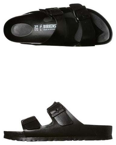 Birkenstock Arizona Sandal, all black, water resistant