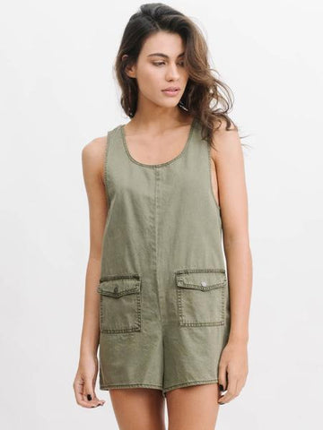 women's green romper