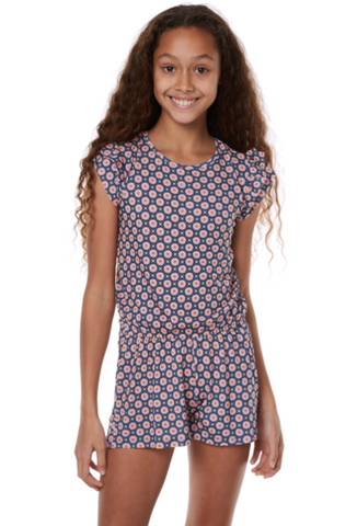 girl's printed playsuit