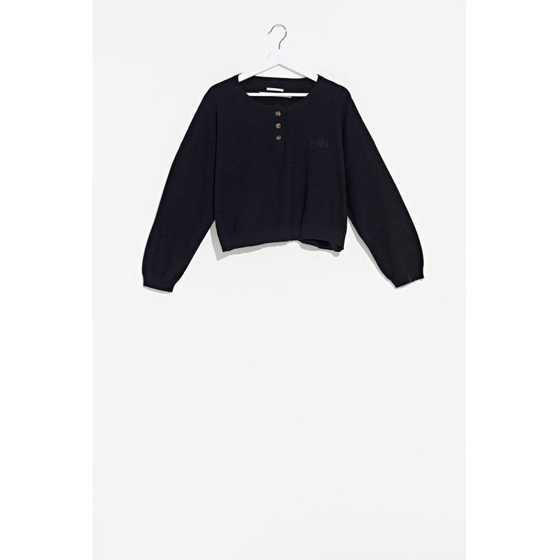 Misfit Moon Bear Henley Knit-MISFIT-Anchor Chief