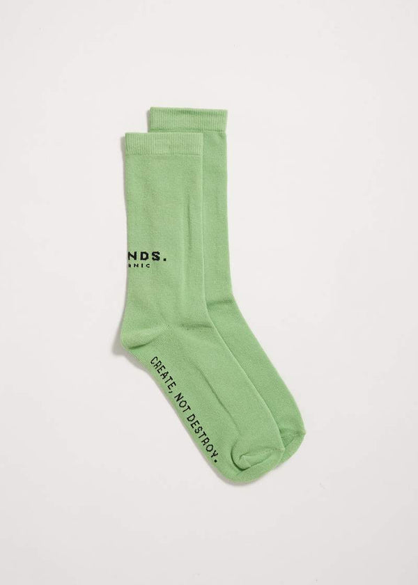 Afends Premium Organic Socks One Pack - Lime