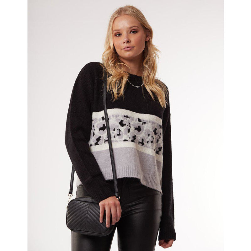 All About Eve Leopard Knit Crew-ALL ABOUT EVE-Anchor Chief