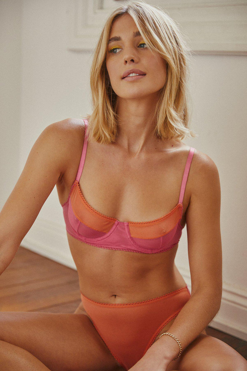 Saturday The Label Ruby Underwire Bra - Pink & Orange-SATURDAY THE LABEL-Anchor Chief