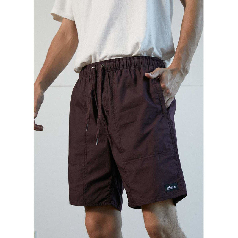 Afends Baywatch Classics Elastic Waist Boardshort-MENS AFENDS-Anchor Chief