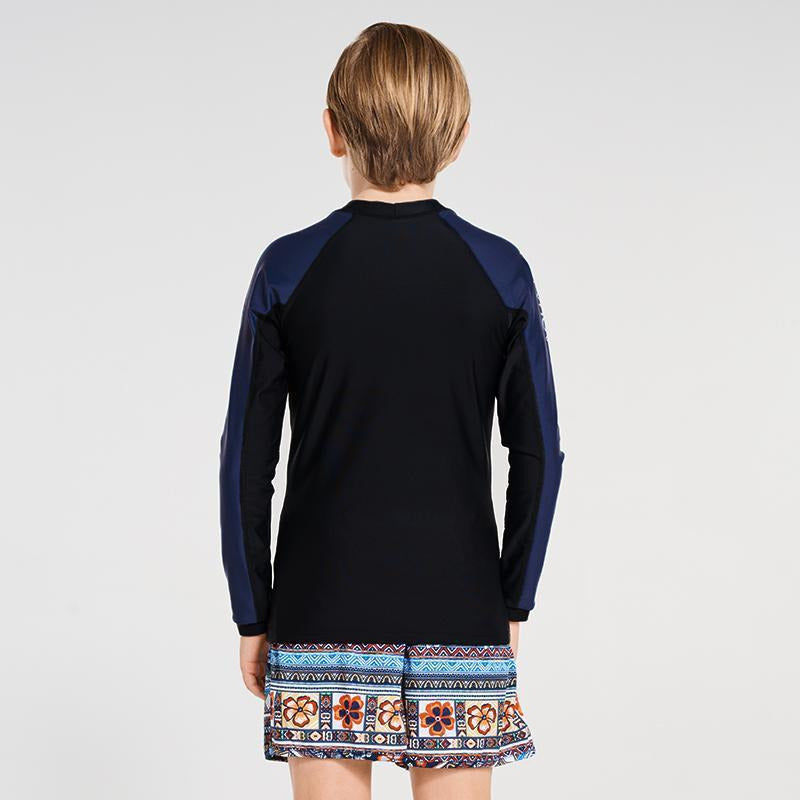 Aqua Blu Boys L/S Rash Vest-AQUA BLU-Anchor Chief