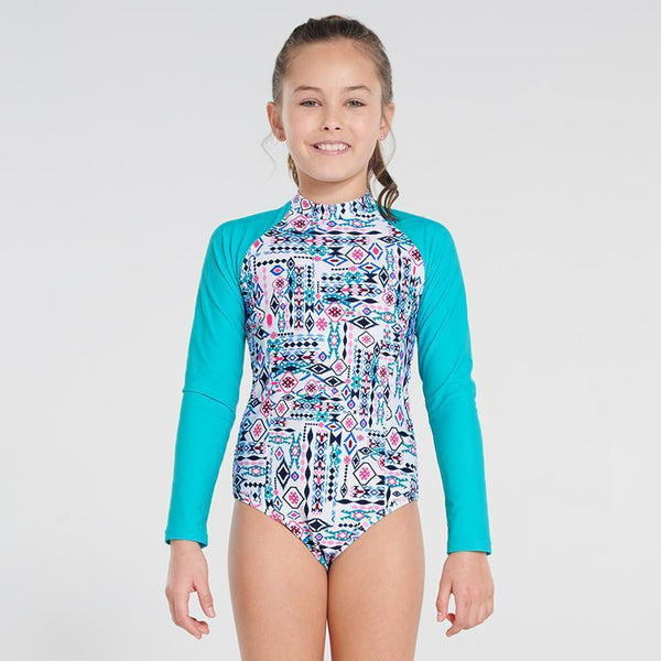 Aqua Blu L/S Girls One Piece-AQUA BLU-Anchor Chief