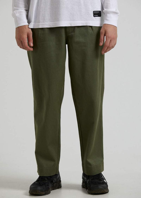 Afends Day Off Hemp Suit Pant - Military