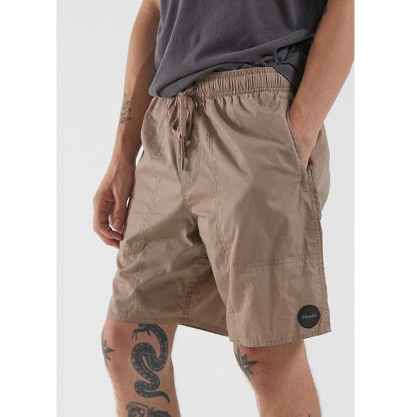 Afends Baywatch Classic Elastic Waist Boardshort - Sand-MENS AFENDS-Anchor Chief