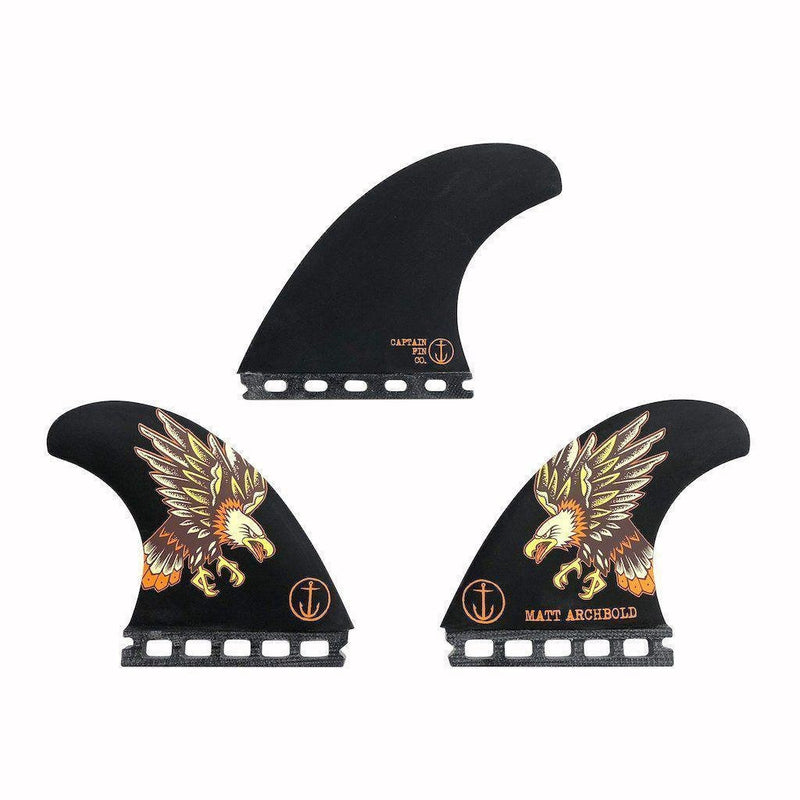 Captain Fin Co Matt Archbold Speed Tri Large - Black Eagle-CAPTAIN FIN CO-Anchor Chief