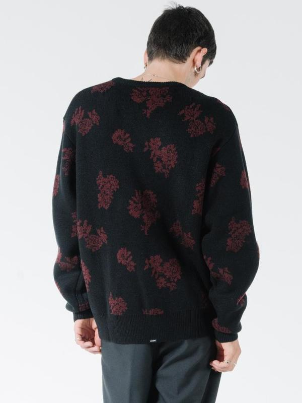 Thrills Hidden Paradise Crew Knit - Black Blood Red