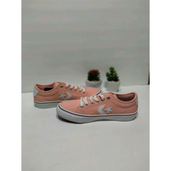 Converse Star Replay Low OX Junior - Bleached Coral / White-CONVERSE-Anchor Chief