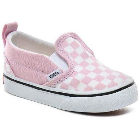 Vans Toddler Slip On V - Checkerboard Lilac Snow/True White-VANS-Anchor Chief
