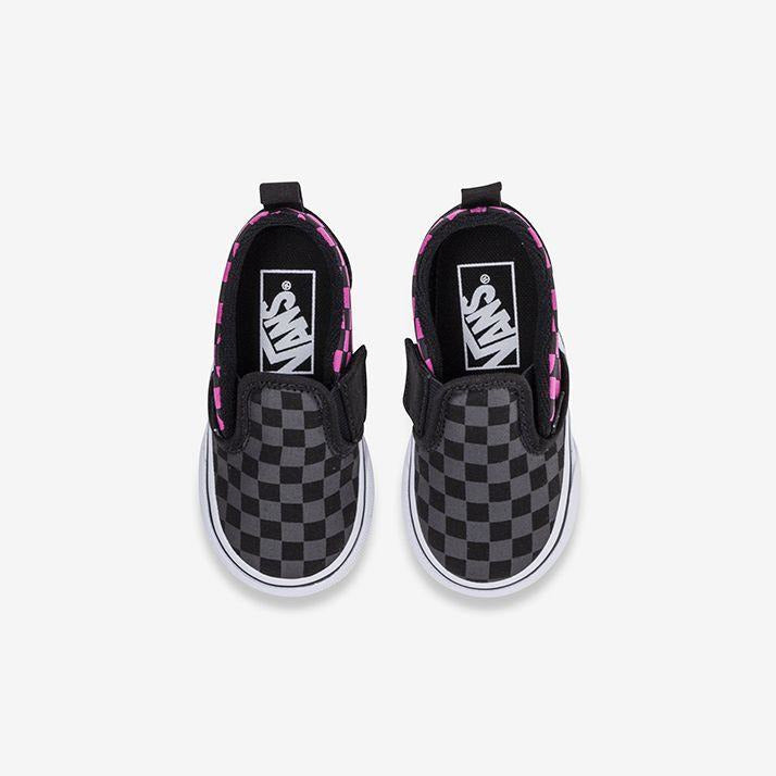 Vans Slip On V Toddler - Check Carmine Rose-KIDS VANS-Anchor Chief