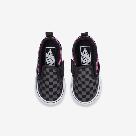 Image of Vans Slip On V Toddler - Check Carmine Rose-KIDS VANS-Anchor Chief