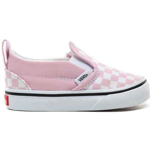 Vans Toddler Slip On V - Checkerboard Lilac Snow/True White-KIDS VANS-Anchor Chief