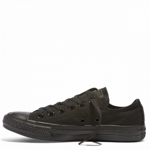 Kids Chuck Taylor Lo Black Mono-CONVERSE-Anchor Chief