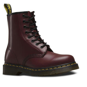 Dr. Martens 1460 8 Eye Boot - Cherry Smooth-DR MARTENS-Anchor Chief