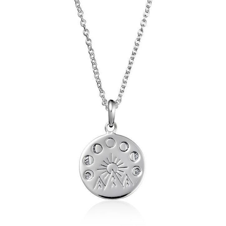 Midsummer Star Moon And Mountains Medallion Necklace-MIDSUMMER STAR-Anchor Chief