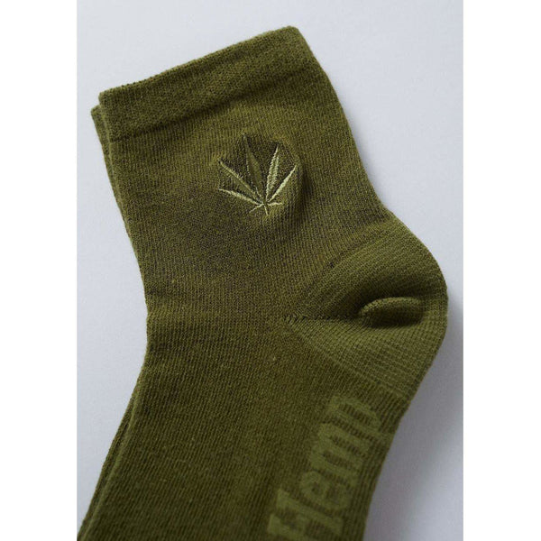 Afends Happy Hemp Womens Socks - Olive-LADIES AFENDS-Anchor Chief