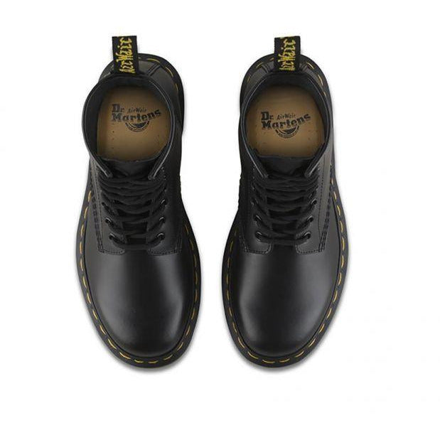 Dr Martens 1460 8 Eye Boot - Black Smooth-DR MARTENS-Anchor Chief