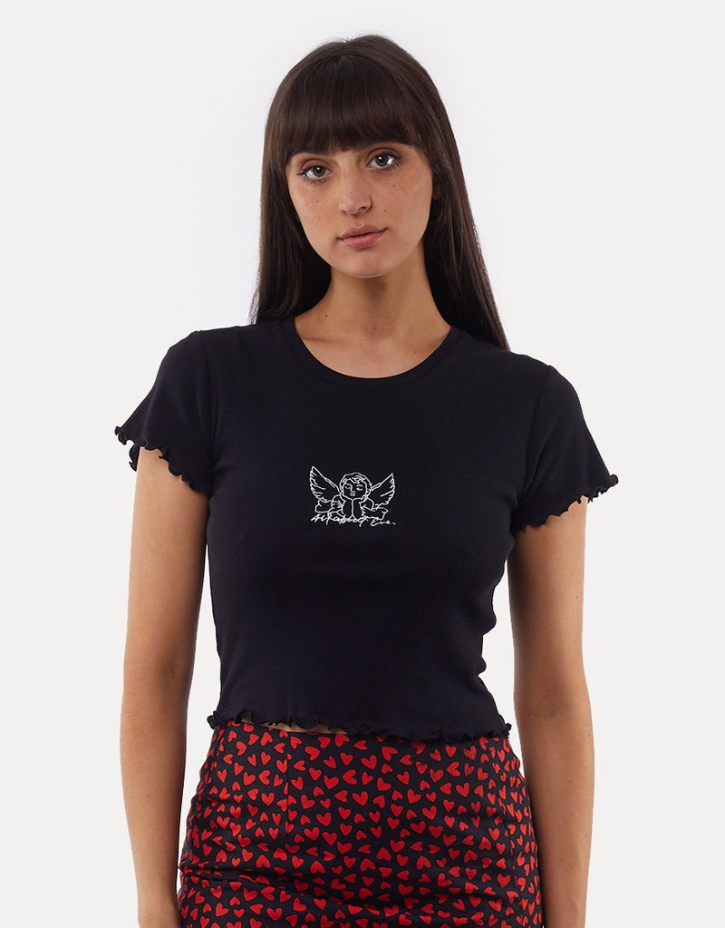 All About Eve Angel Cupid Tee - Black