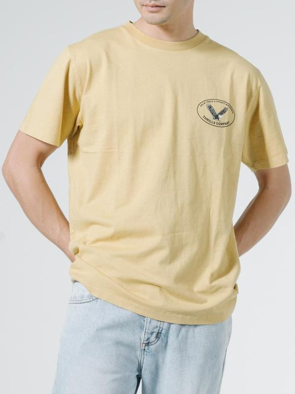 Thrills Primitive Motion Merch Fit Tee - Heritage Yellow
