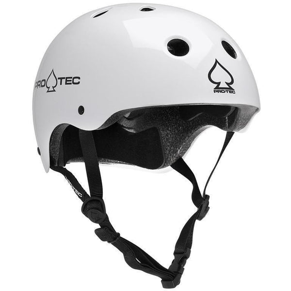 Protec Classic Skate Helmet - Gloss White-PROTEC-Anchor Chief