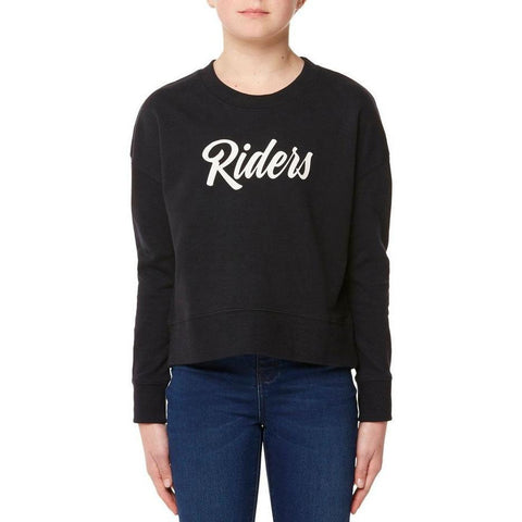 Riders The Crop Sweat Riders Squad - Black Coal-RIDERS BY LEE-Anchor Chief