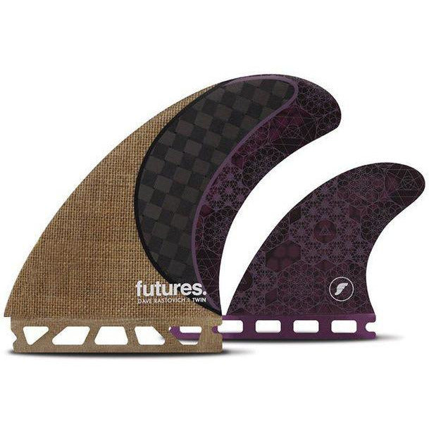 Futures Dave Rastovich Twin Fin - Jute/Carbon/Purple-FUTURES-Anchor Chief