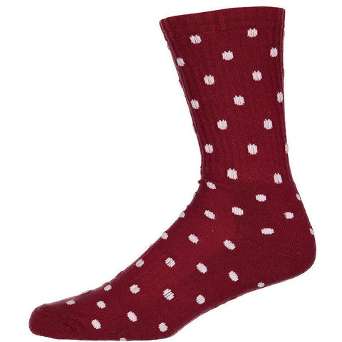 Kustom Crew Sock - Red White Dots-KUSTOM-Anchor Chief