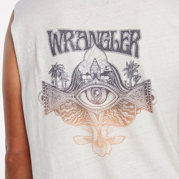 Wrangler Strange Night Muscle - Vintage White-MENS WRANGLER-Anchor Chief