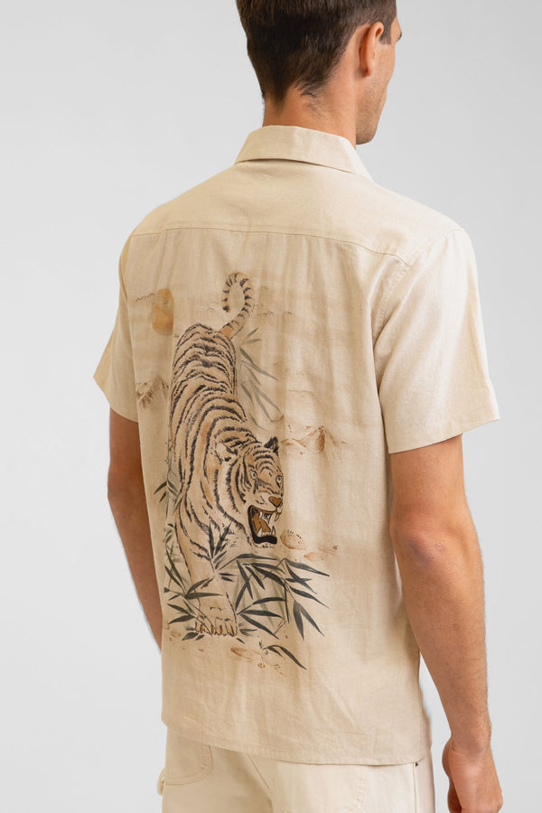 Rhythm Aloha Tiger Shirt - Natural