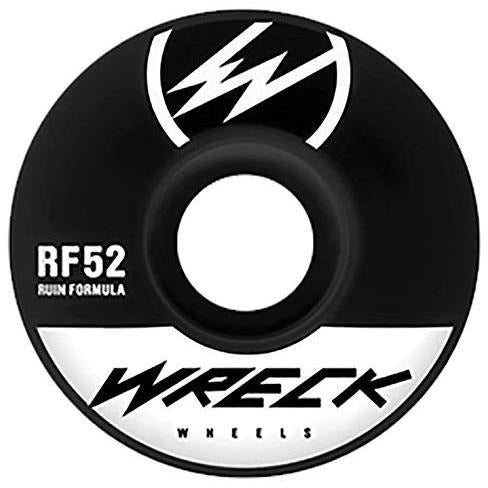 Wreck Original Cut Skateboard Wheels - 52mm - Black-WRECK-Anchor Chief