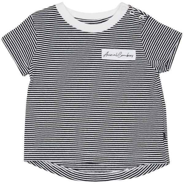 Animal Crackers Lounging S/S Tee - Stripe-ANIMAL CRACKERS-Anchor Chief