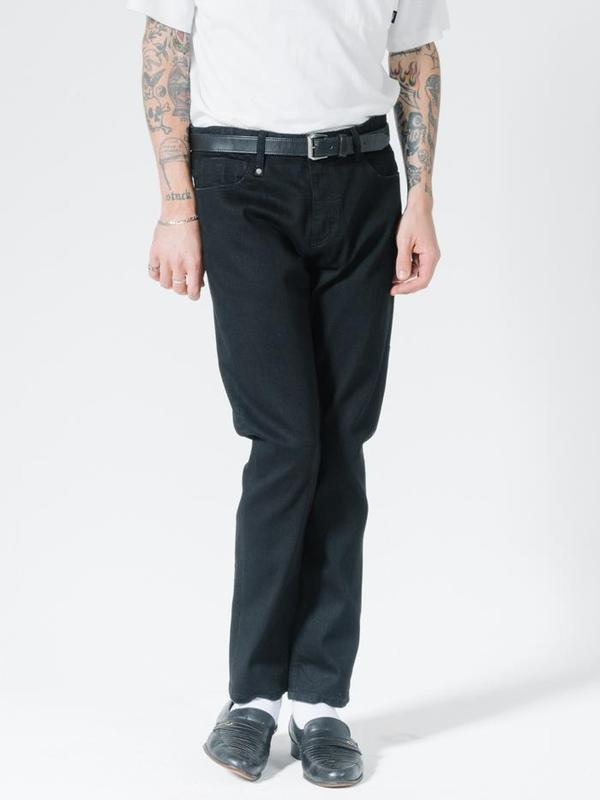Thrills Bones Denim Jean - Black Rinse