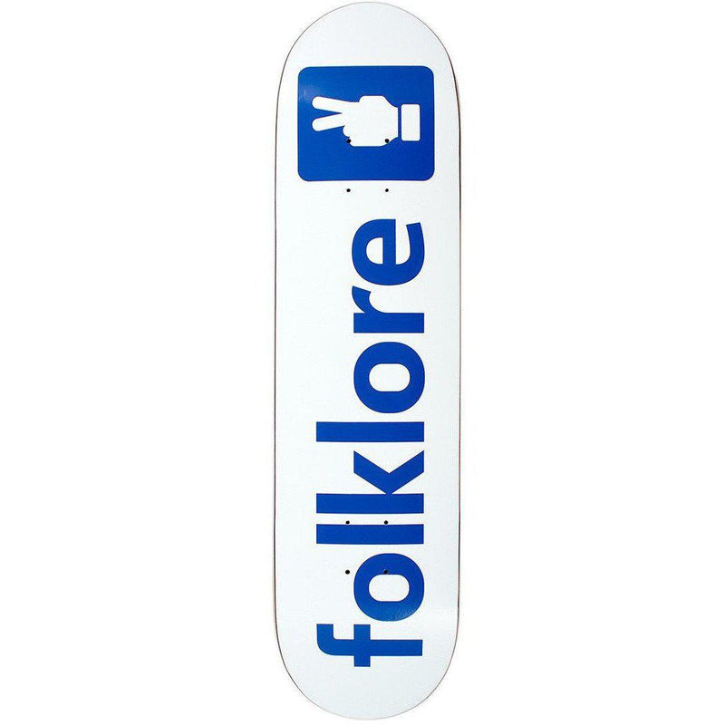 Folklore Warm Press Skate Deck - Folkbook White 8.75-FOLKLORE-Anchor Chief