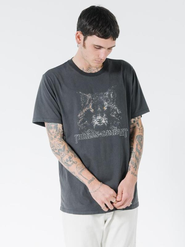 Thrills Shades Of Wolf Merch Fit Tee - Merch Black