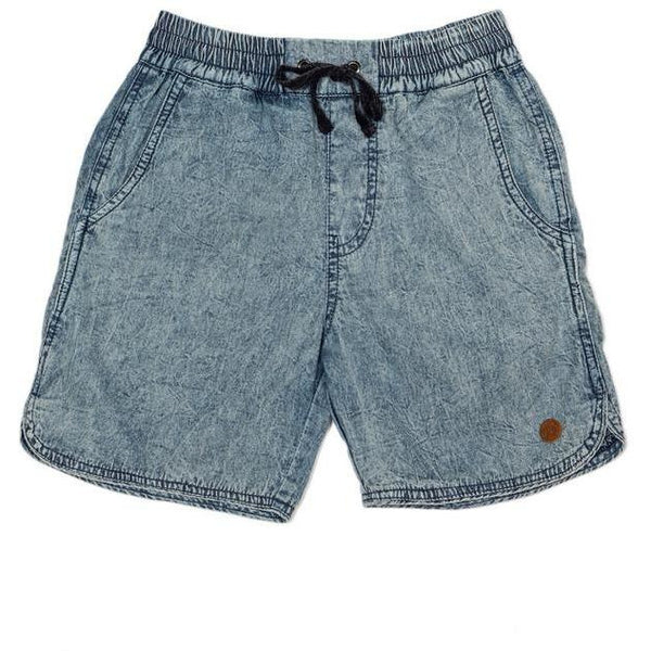 Children Of The Tribe Chambray Drawstring Shorts-CHILDREN OF THE TRIBE-Anchor Chief