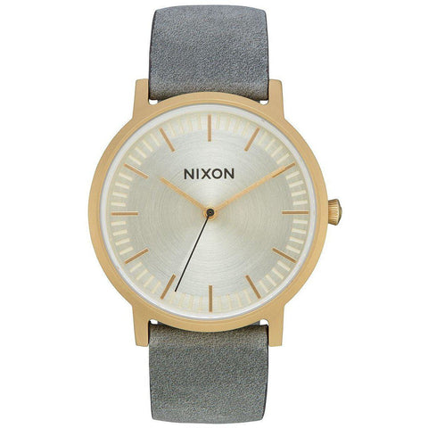 Image of Nixon Porter Leather Light Gold/Gray-NIXON-Anchor Chief