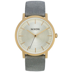 Nixon Porter Leather Light Gold/Gray-NIXON-Anchor Chief