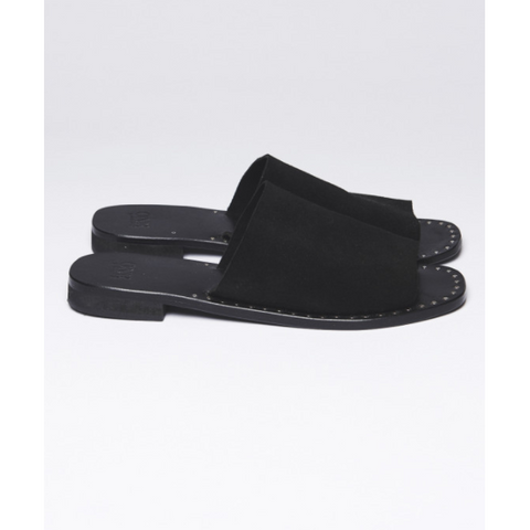 Image of One Teaspoon Florence Suede Slides-ONE TEASPOON-Anchor Chief