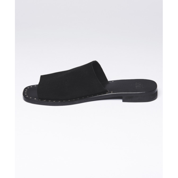 One Teaspoon Florence Suede Slides - Black-ONE TEASPOON-Anchor Chief